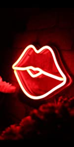 ADVPRO LED Neon sign light-ing Passion Lips Love Lovers Valentines heart sweet Flex Silicone bright