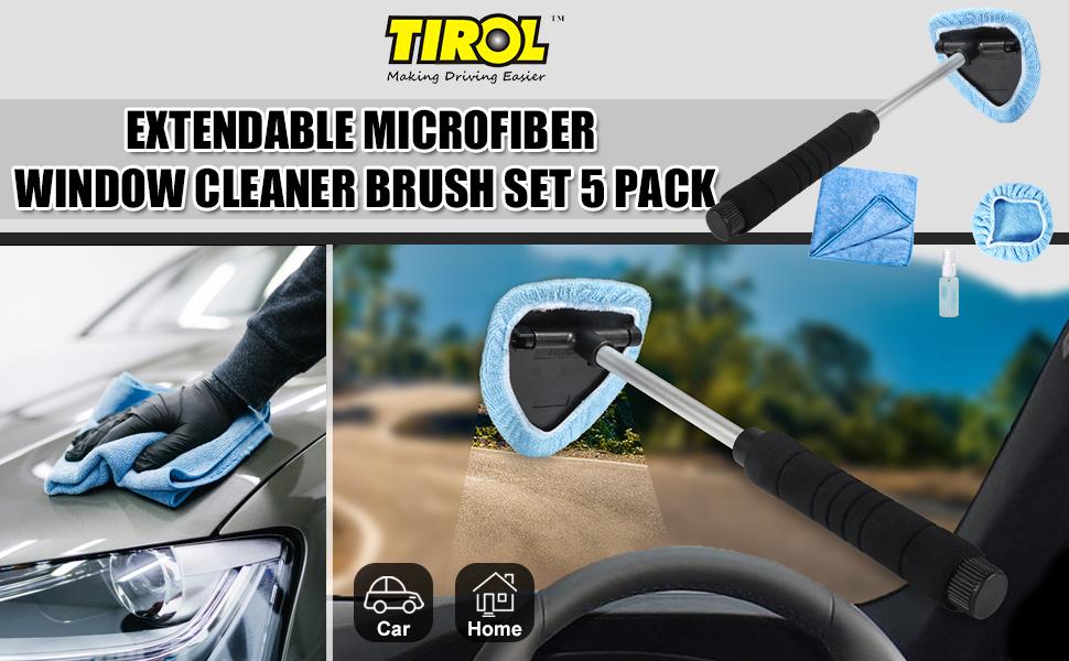 Extendable Microfiber Window Cleaner Brush Set 5 pack