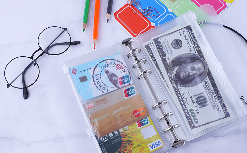 A6 binder pockets and binder cover