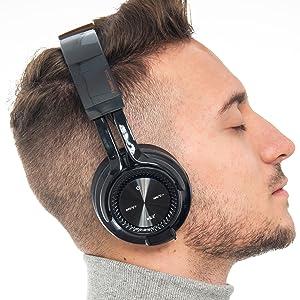 Drahtlose und kabelgebundene Kopfhorer Over-Ear Wireless Headset Bluetooth-Kopfhorern mit Mikrofon