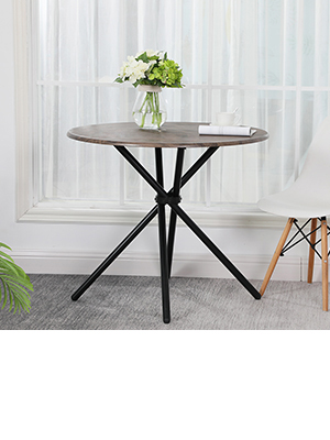 Kitchen Dining Table Industrial Brown Round Mid-Century Vintage Living Room Table CoffeeTable