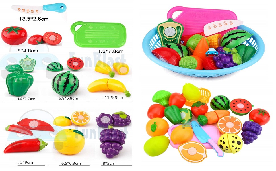 toy cutting fruits n vegetables realistic sliceable cutting fruits and vegetables play toy set
