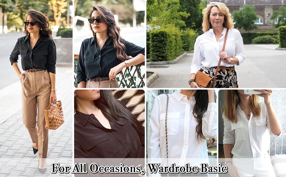 silk blouses for women