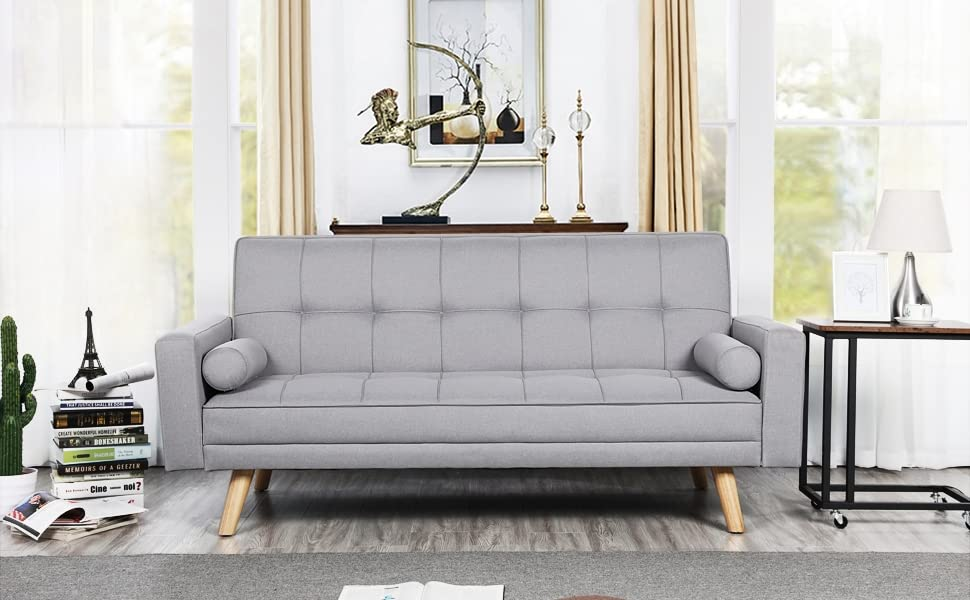 Padded Fabric Sofabed 3 Seater