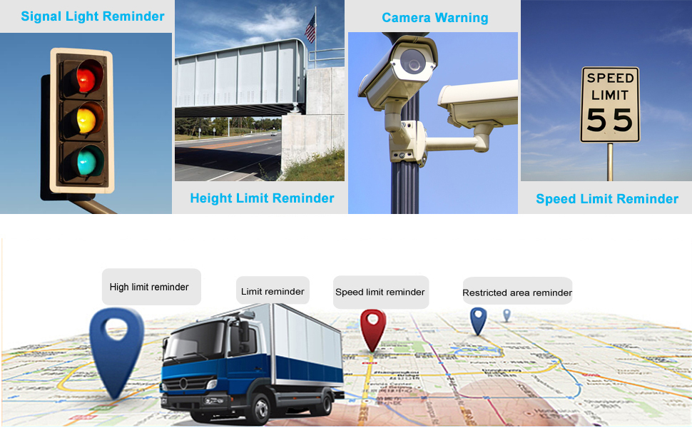speeding camera warning gps navigation