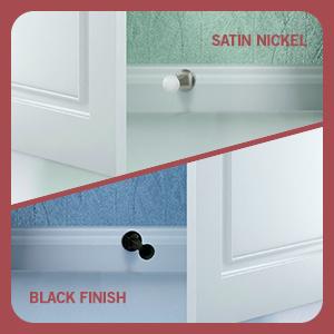 finishes, colors, satin nickel, oil-rubbed bronze, door stop, doorstopper, wall, door