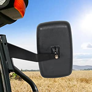 Side Towing Mirror Kit Set with Fixed Arms Replacement for DM2455000 Fits John Deere 5000 /& 6000 Series Tractor 2 Pcs Left and Right Side