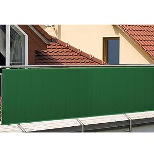 wolketon Estera de PVC//Pantalla de privacidad//Protector contra el Viento//para jard/ín balc/óny terraza Piscina//Verde 100x300cm