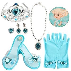 Blue Princess Dress Up Shoes Set