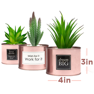 rose gold fake plant small face plant decor plants for office decor gold tabletop decor room decors
