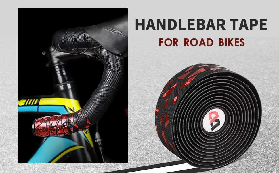 2 Rolls Super Sticky Cycling Bike Bar End Plugs Handlebar Tape PU Wrap Black