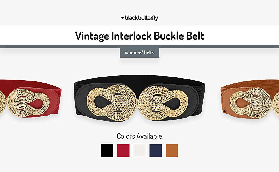 Vintage Interlock Buckle Belt