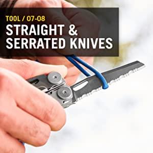 Straight Knives, Serrated Knives, Leatherman, Leatherman Wave Plus, Multitool, Multipurpose Tool