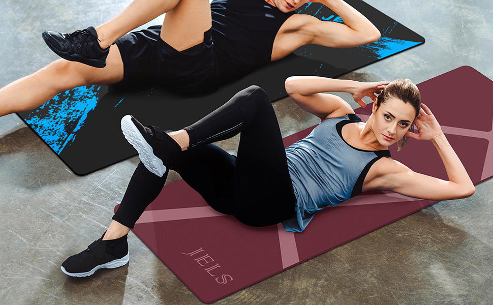 Non-slip yoga mat for men women exercise workout mat anti-tear
