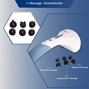 6 massage attachments