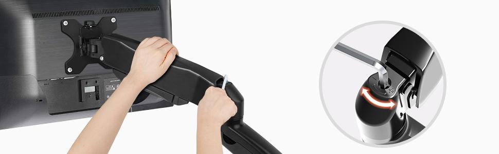 Soporte Monitor Brazo de Monitor Altura Ajustable con Amortiguador de Gas VESA 75x75 100x100