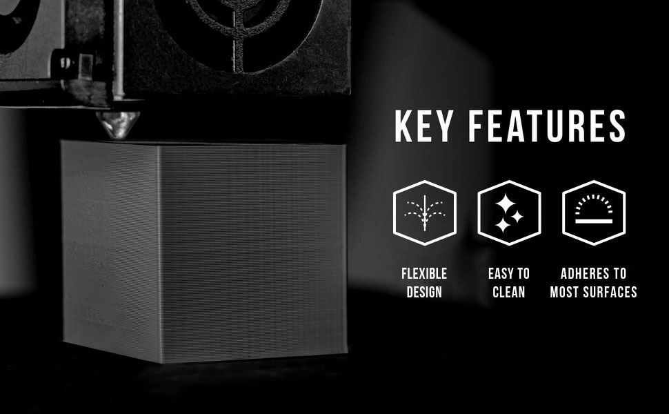 tpu key features include flexibility, easy to clean and adheres to most surfaces