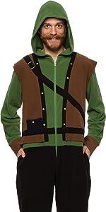 Robin Hood Halloween Adult Unisex One Piece Soft Jumpsuit Pajama Onesie