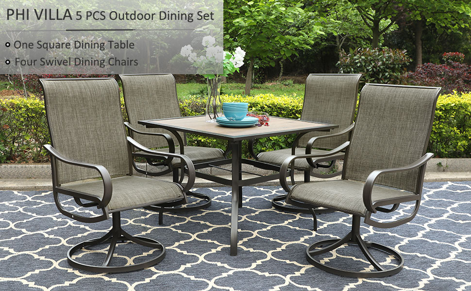 outdoor kitchen dining set
