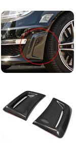 Benz W204 C63 AMG 2012 2013 2014 Carbon Fiber Front Fender Air Vent Panel Cover Trim Scoop Spoiler