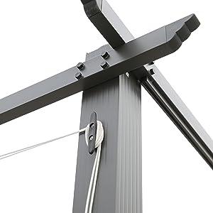 Angel Living® Pérgola de Aluminio con Techo Retráctil, Pabellón ...