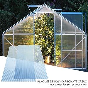Plaque de polycarbonate serres abris auto bricolage résistantes aux chocs résistantes aux UV