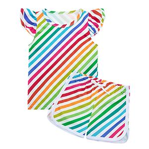 colorful print short set toddelr