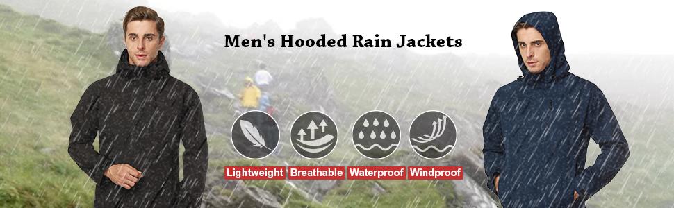 men's breathable rain jackets