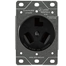 Sintron NEMA 10-30R Straight Blade Female Receptacle