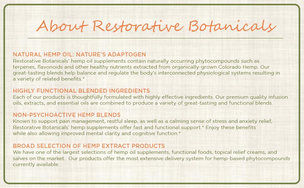 About Restorative Botanicals, LLC