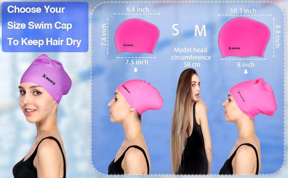 choose your size swim cap