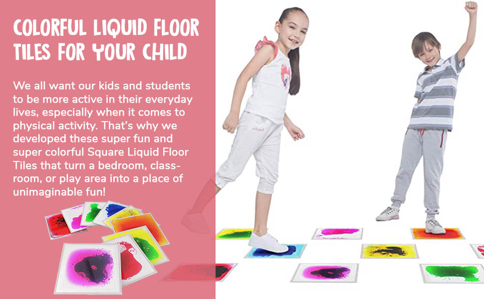 Square Liquid Floor Tiles