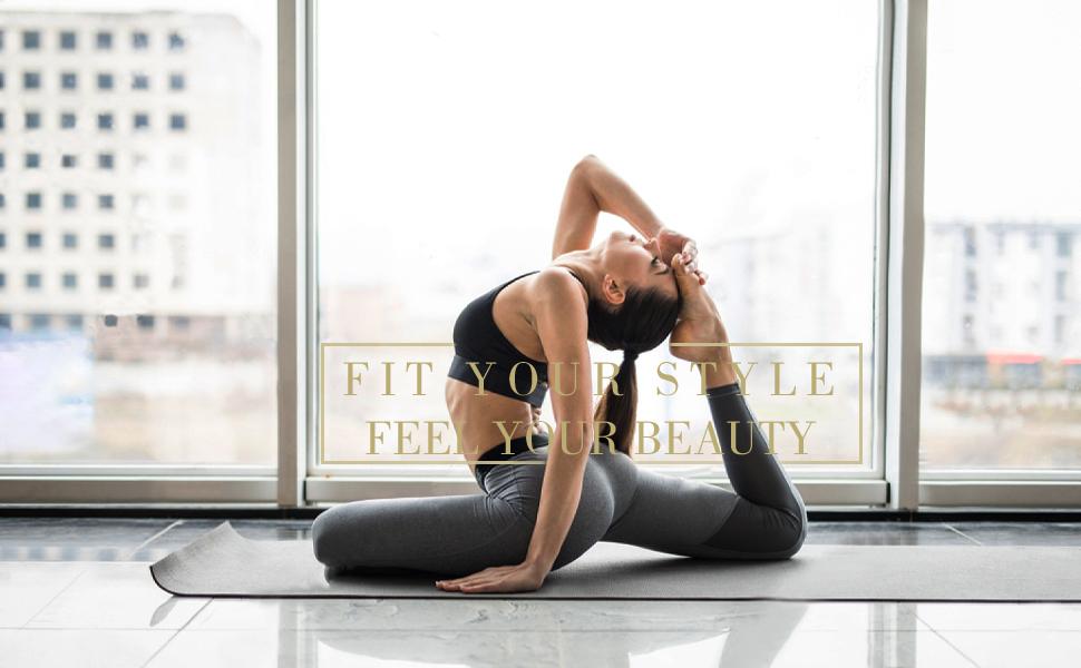 Raypose Women Workout Yoga Leggings
