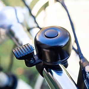 Retro Vintage Klassik Fahrradklingel Farbe Gold f/ür Rennrad Citybike E-Bike Mountainbike oder Roller geeignet mit verstellbarer Schelle f/ür die Lenkerbefestigung einfache Montage