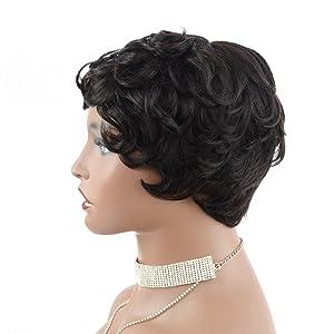 short wigs for black women short human hair wig for black women unlce hair wig pixie cut short wig