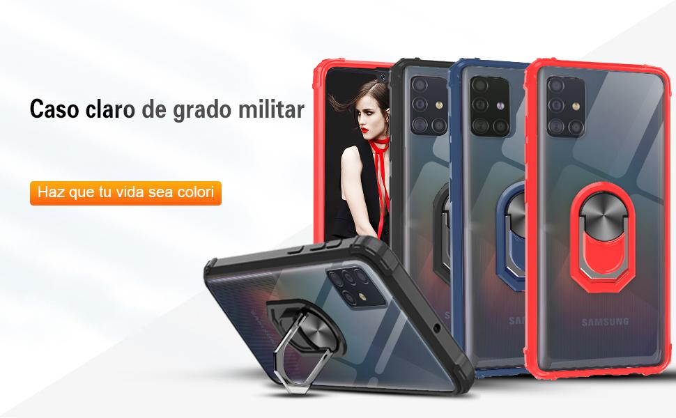 LeYi Funda Samsung Galaxy A71,Transparente Carcasa con 360 Grados