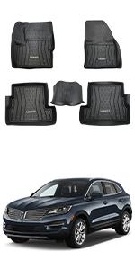 Floor Mats custom fit for Lincoln MKC 2015-2017