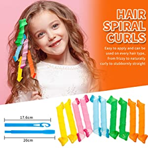 the magic hair curlers are easy to use and suit various hair types such as frizzy, naturally curly