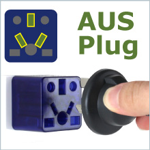 AUS Australia China plug to US outlet adapter travel charger small compact Cute red socket gift