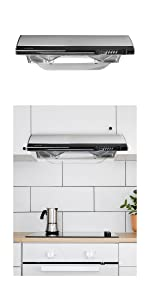 chef range hood extractor suction kitchen exaust fan cook range steel fry smells fan filter