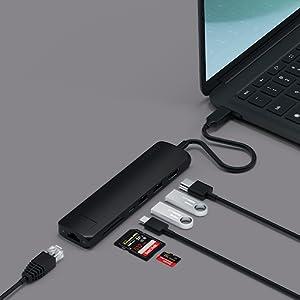 Satechi USB-C Compacte Multi-Poort Adapter met Ethernet