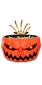 Halloween Candy Bowl with Animated Hand