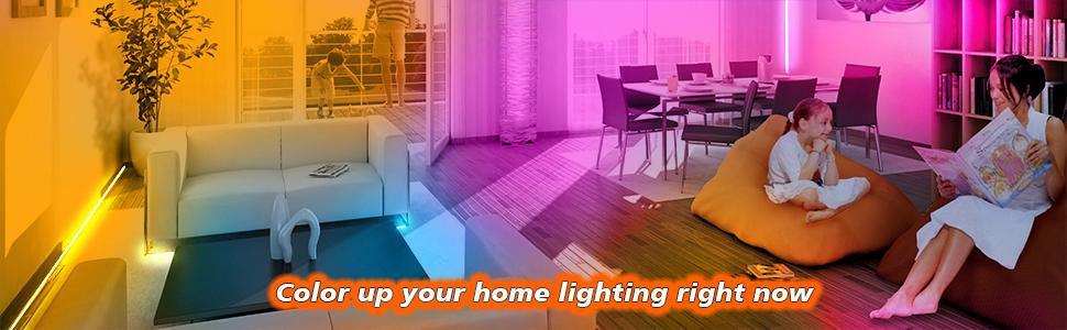 led lighst for bedroom 50ft wifi smart