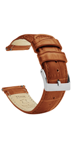 alligator grain leather quick release