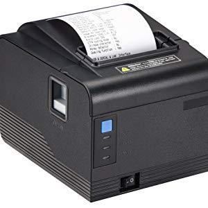 MUNBYN ITPP094USE Impresora de Etiqueta Térmica, Impresora de Recibos 80mm con Cortador Auto de Velocidad Alta 300 mm/s ESC/POS USB/Serial/LAN ...