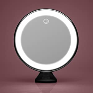 Luna Magnifying mirror 10x with led lights