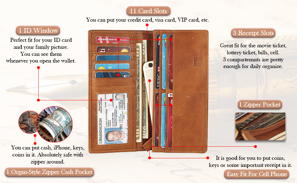 sturdy spacious sleek tall cowboy phone credit card slot coin pocket organized gift for husband