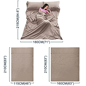 Travel and Camping Sheet adults hotel sleeping bag liner adults sleeping bag liner for sleeping