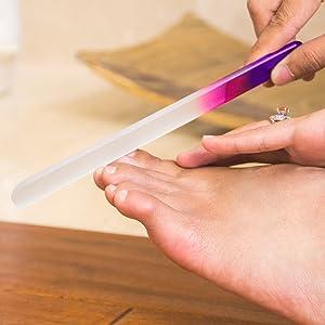 glass nail file, glass files, nail file, glass file, glass nail files, manicure, pedicure, nail care