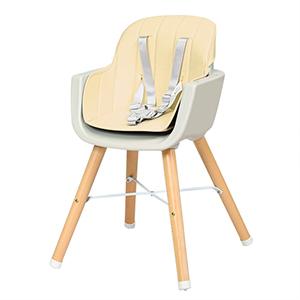 GOPLUS Chaise Haute pour B/éb/é Evolutive,Chaise haute Multi-Fonctions en Bois+Plastique 2 en 1 51CM//65CM//83CM,Ceinture de S/écurit/é /à 5 Points,Plateau R/églable,Coussin Confortable Blanc//Rose Rose